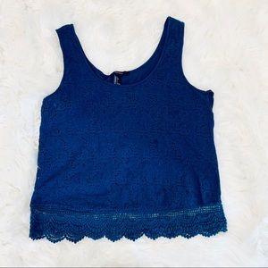 Forever21 Lace Sleeveless Blouse - L